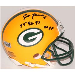 "Brett Favre Signed Packers Mini-Helmet Inscribed ""95 96 97 MVP"" (Favre Hologram)"