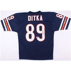 Mike Ditka Signed Bears Career Highlight Stat Jersey (Schwartz COA  JSA COA)