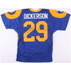 "Eric Dickerson Signed Rams Jersey Inscribed ""HOF 99"" (PSA COA)"