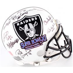 1976 Oakland Raiders Full-Size Authentic Super Bowl Logo Helmet Team-Signed by (11) with Ted Hendric
