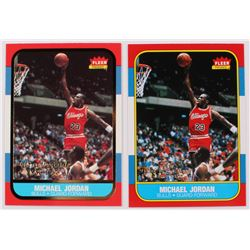 Lot Of (2) Michael Jordan Basketball Cards With 1996-97 Ultra Decade of Excellence #U4  1996-97 Flee