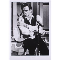 "The Hulton Archive - Johnny Cash ""The Man in Black"" Limited Edition 16x23 Custom Matted Fine Art Gic"