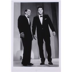 "The Hulton Archive - Elvis Presley  Frank Sinatra ""Elvis and Frank 1960"" 16x23 Fine Art Giclee on Pa"