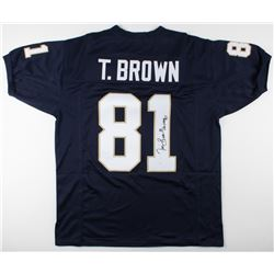 "Tim Brown Signed Notre Dame Gighting Irish Jersey Inscribed ""Heisman '87"" (JSA COA)"