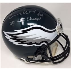 Carson Wentz Signed Eagles Full-Size Authentic On-Field Helmet Inscribed  SB LII Champs  (Fanatics)