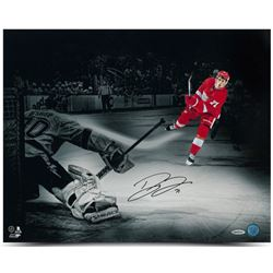 Dylan Larkin Signed Red Wings 16x20 Photo (UDA COA)