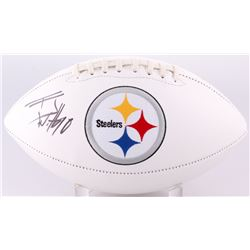 T. J. Watt Signed Steelers Logo Football (JSA COA)
