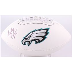 Randall Cunningham Signed Eagles Logo Football (JSA COA)