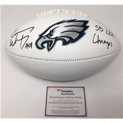 "Carson Wentz Signed Eagles Logo Football Inscribed ""AO1""  ""SB LII Champs"" (Fanatics Hologram)"