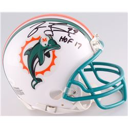 "Jason Taylor Signed Dolphins Mini Helmet Inscribed ""HOF 17"" (JSA COA)"
