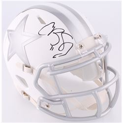 Cole Beasley Signed Cowboys White Ice Custom Matte Speed Mini-Helmet (Fanatics Hologram)