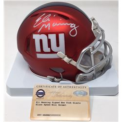 Eli Manning Signed Giants Blaze Speed Mini Helmet (Steiner COA)