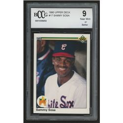 1990 Upper Deck #17 Sammy Sosa RC (BCCG 9)