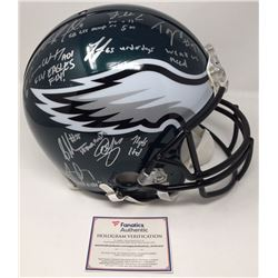 2017 Philadelphia Eagles LE Authentic On-Field Full-Size Helmet Team-Signed by (20) with Nick Foles,