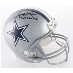 "Tony Dorsett Signed Cowboys Full-Size Helmet Inscribed ""SB XII Champs"" (Radtke COA)"