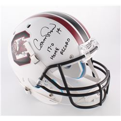 "Connor Shaw Signed South Carolina Gamecocks Full-Size Helmet Inscribed ""17-0 Home Record"" (Radtke CO"