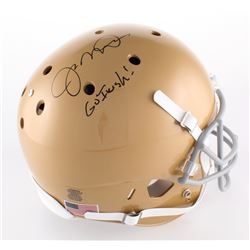 "Joe Montana Signed Notre Dame Fighting Irish Full-Size Helmet Inscribed ""Go Irish!"" (Radtke Hologram"