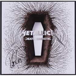 "Robert Trujillo Signed ""Metallica- Death Magnetic"" Vinyl Record Album Cover (JSA COA)"