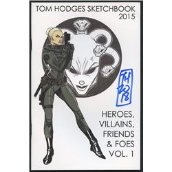 Tom Hodges Signed Official 2015 Sketchbook (PA COA)