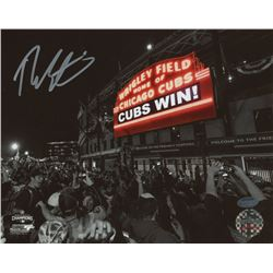 "Theo Epstein Signed Cubs ""Cubs Win!""  8x10 Photo (Schwartz COA)"