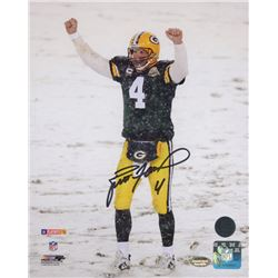 Brett Favre Signed Packers 8x10 Photo (Schwartz COA)