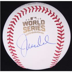 Joe Maddon Signed 2016 World Series Baseball (JSA COA)