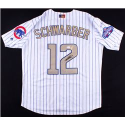 Kyle Schwarber Signed Cubs 2016 World Series Champions Jersey (JSA COA)