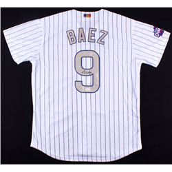 Javier Baez Signed Cubs 2016 World Series Champions Jersey (JSA COA)