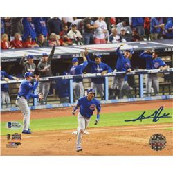 Addison Russell Signed Cubs 8x10 Photo (Beckett COA)