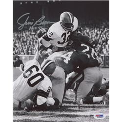 "Jim Brown Signed Browns 8x10 Photo Inscribed ""HOF 71"" (PSA COA)"