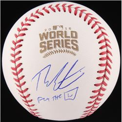 "Theo Epstein Signed Official 2016 World Series Baseball Inscribed ""Fly The W"" (Schwartz COA)"