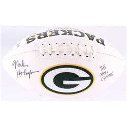 "Mike Holmgren Signed Packers Logo Football Inscribed ""SB XXXI Champs"" (JSA COA)"