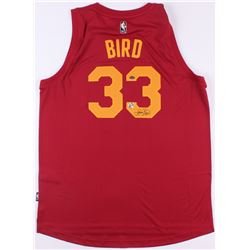 "Larry Bird Signed Pacers Throwback ""Hickory"" Jersey (Bird Hologram  Schwartz COA)"