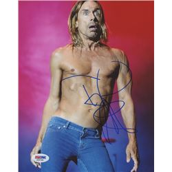 Iggy Pop Signed 8x10 Photo (PSA COA)