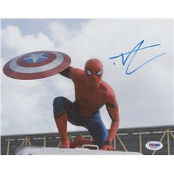 "Tom Holland Signed ""Captain America: Civil War"" 8x10 Photo (PSA COA)"