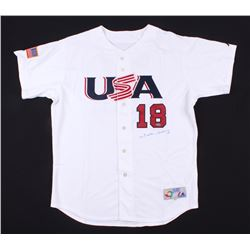 Johnny Damon Signed USA 2006 World Baseball Classic Jersey (Steiner COA)