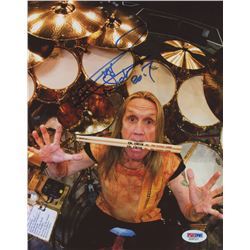 Nicko McBrain Signed 8x10 Photo (PSA COA)