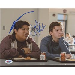 "Tom Holland  Jacob Batalon Signed ""Spider-Man: Homecoming"" 8x10 Photo (PSA COA)"