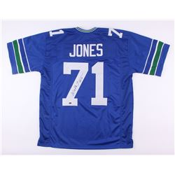 "Walter Jones Signed Seahawks Jersey Inscribed ""HOF '14"" (Schwartz COA)"