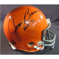"Jim Brown Signed Browns Full Size Helmet Inscribed ""HOF 71"" (Online Authentics)"