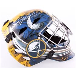 "Dominik Hasek Signed Sabres Full-Size Goalie Mask Inscribed ""HOF 14"" (Schwartz COA)"