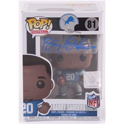 Barry Sanders Signed Lions Funko Pop Figure (Schwartz COA)