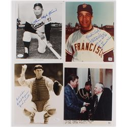 Lot of (4) 8x10 Photos with Harmon Killebrew, Rick Ferrell, Juan Marichal  Joe Sewell (Autograph Ref