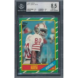 1986 Topps #161 Jerry Rice RC (BGS 8.5)