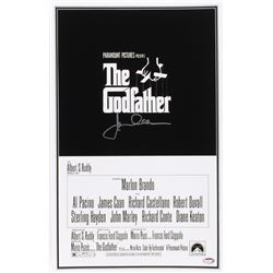 "James Caan Signed ""The Godfather"" 11x17 Movie Poster (Schwartz COA)"