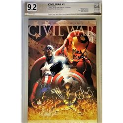 "Michael Turner, Mark Miller  Peter Steigerwald Signed 2006 Civil War #1 Aspen Comics Variation ""Deat"