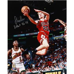 "Steve Kerr Signed Bulls 16x20 Photo Inscribed ""3 Peat 96-98"" (Schwartz COA)"