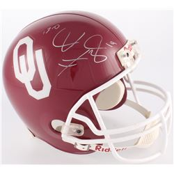 "Josh Heupel Signed Oklahoma Sooners Full-Size Helmet Inscribed ""13-0"" (Creative Sports COA)"