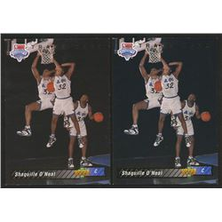 Lot of (2) 1992-93 Upper Deck #1B Shaquille O'Neal
