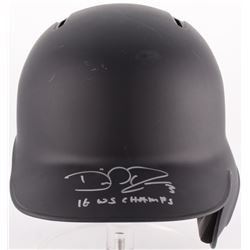"David Ross Signed Rawlings Authentic Batting Helmet Inscribed ""16 WS Champs"" (Schwartz COA)"